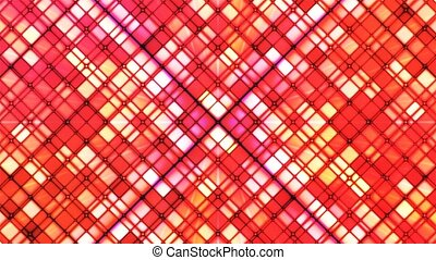 Broadcast Twinkling Cubic Diamonds, Red, Abstract, Loopable, 4K