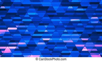 Broadcast Twinkling Diamond Hi-Tech Small Bars, Blue, Abstract, Loopable, 4K