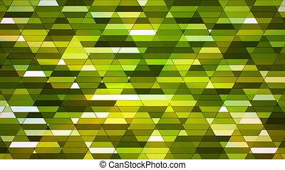 Broadcast Twinkling Diamond Hi-Tech Small Bars, Green, Abstract, Loopable, HD