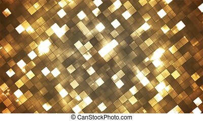 Broadcast Twinkling Fire Light Diamonds, Golden Brown, Abstract, Loopable, 4K