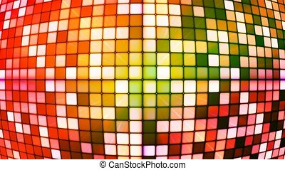 Broadcast Twinkling Hi-Tech Cubes Globe, Multi Color, Abstract, Loopable, 4K