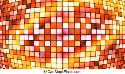 Broadcast Twinkling Hi-Tech Cubes Globe, Orange Golden,...