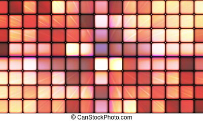 Broadcast Twinkling Hi-Tech Cubes, Multi Color, Abstract, Loopable, HD