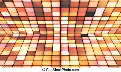 Broadcast Twinkling Hi-Tech Cubes Stage, Brown Yellow,...