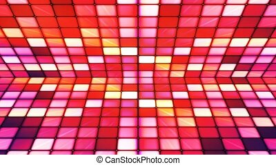 Broadcast Twinkling Hi-Tech Cubes Stage, Red Purple,...