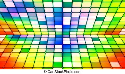 Broadcast Twinkling Hi-Tech Cubes Stage, Multi Color, Abstract, Loopable, 4K