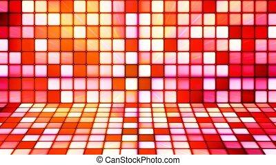Broadcast Twinkling Hi-Tech Cubes Stage, Red Orange,...