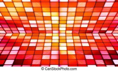 Broadcast Twinkling Hi-Tech Cubes Stage, Red Orange,...