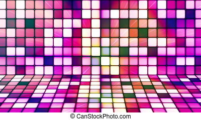 Broadcast Twinkling Hi-Tech Cubes Stage, Multi Color, Abstract, Loopable, HD