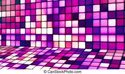 Broadcast Twinkling Hi-Tech Cubes Stage, Pink, Abstract, Loopable, HD