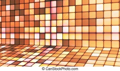 Broadcast Twinkling Hi-Tech Cubes Stage, Brown Orange,...