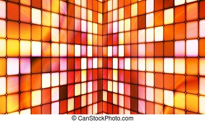 Broadcast Twinkling Hi-Tech Cubes Walls, Orange Red,...