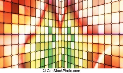 Broadcast Twinkling Hi-Tech Cubes Walls, Multi Color, Abstract, Loopable, 4K
