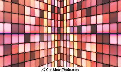 Broadcast Twinkling Hi-Tech Cubes Walls, Brown, Abstract,...
