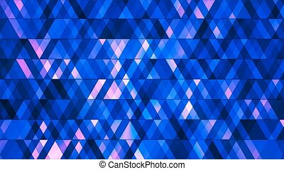 Broadcast Twinkling Hi-Tech Diamonds, Blue, Abstract, Loopable, 4K
