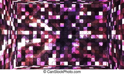Broadcast Twinkling Hi-Tech Squares Room, Multi Color, Abstract, Loopable, HD