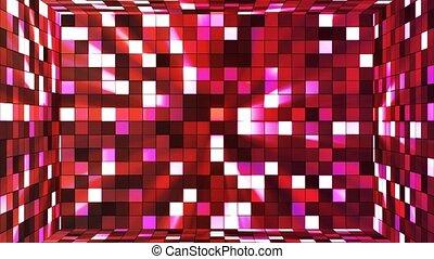 Broadcast Twinkling Hi-Tech Squares Room, Red Magenta,...