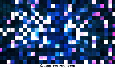 Broadcast Twinkling Hi-Tech Squares, Multi Color, Abstract, Loopable, HD