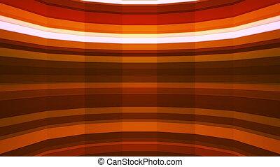Broadcast Twinkling Horizontal Hi-Tech Bars Shaft, Orange, Abstract, Loop, HD