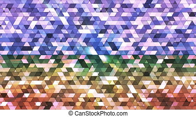 Broadcast Twinkling Polygon Hi-Tech Triangles, Multi Color, Abstract, Loop, HD