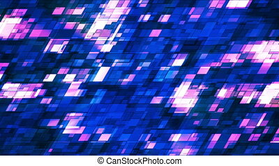Broadcast Twinkling Slant Hi-Tech Squares, Blue, Abstract, Loopable, HD