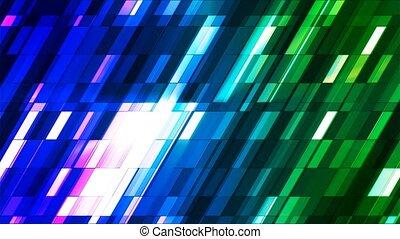 Broadcast Twinkling Slant Hi-Tech Small Bars, Blue Green, Abstract, Loopable, 4K