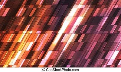 Broadcast Twinkling Slant Hi-Tech Small Bars, Brown Orange, Abstract, Loopable, 4K