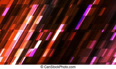 Broadcast Twinkling Slant Hi-Tech Small Bars, Magenta Orange, Abstract, Loopable, 4K