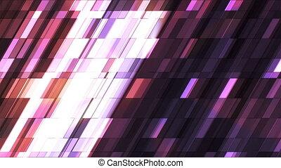 Broadcast Twinkling Slant Hi-Tech Small Bars, Orange Purple, Abstract, Loopable, 4K