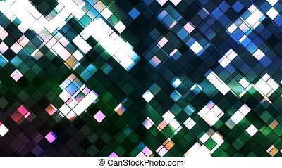 Broadcast Twinkling Squared Diamonds, Blue Green, Abstract, Loopable, 4K