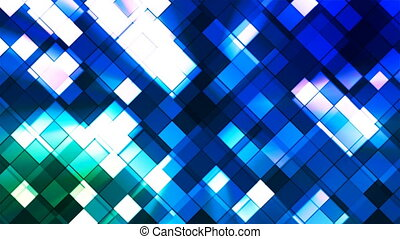 Broadcast Twinkling Squared Diamonds, Green Blue, Abstract, Loopable, 4K