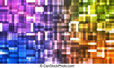 Broadcast Twinkling Squared Hi-Tech Blocks, Multi Color,...