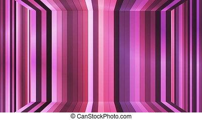 Broadcast Twinkling Vertical Hi-Tech Bars Room, Magenta Purple, Abstract, Loop, HD