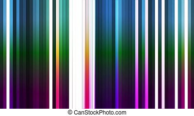 Broadcast Twinkling Vertical Hi-Tech Bars, Multi Color, Abstract, Loopable, HD