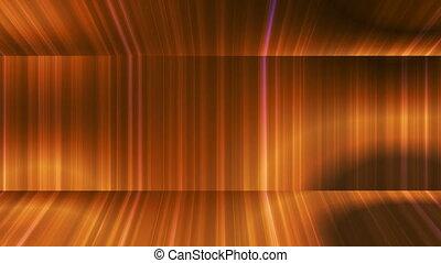 Broadcast Vertical Hi-Tech Lines Passage, Golden Orange,...