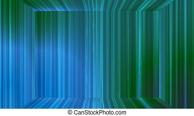 Broadcast Vertical Hi-Tech Lines Stage, Blue Green, Abstract, Loopable, 4K