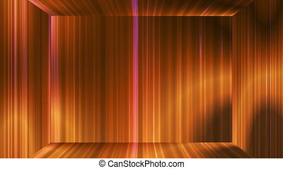 Broadcast Vertical Hi-Tech Lines Stage, Golden Orange, Abstract, Loopable, 4K