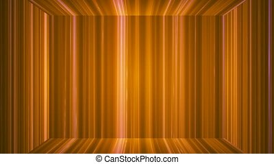 Broadcast Vertical Hi-Tech Lines Stage, Orange, Abstract, Loopable, 4K