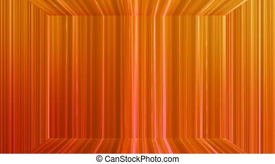 Broadcast Vertical Hi-Tech Lines Stage, Orange Red, Abstract, Loopable, 4K