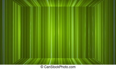 Broadcast Vertical Hi-Tech Lines Stage, Green, Abstract, Loopable, HD