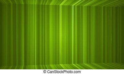 Broadcast Vertical Hi-Tech Lines Passage, Green, Abstract, Loopable, HD