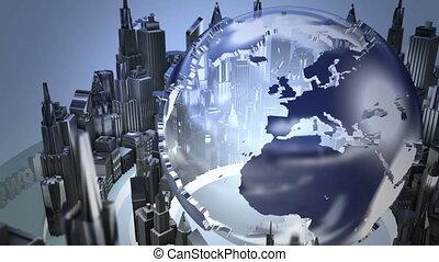 Broadcast world loop animation