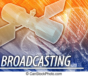 Broadcasting Abstract concept digital illustration