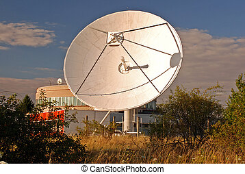 Broadcasting centre - Broadcasting center with satellites...