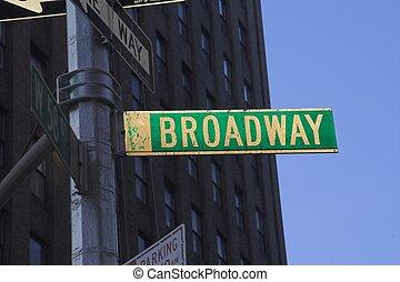 broadway, 通りの 印