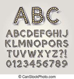 broadway, 3d, srebro, alfabet