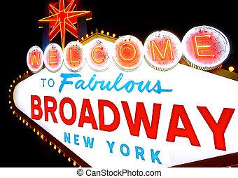 broadway, bienvenida