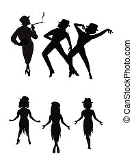 broadway choreography - dancers in silhouette from broadway...