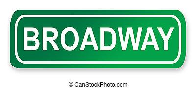 broadway, muestra de la calle
