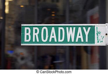 broadway, straßenschild